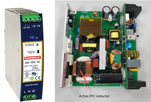 What are the advantages of a power supply with active PFC?